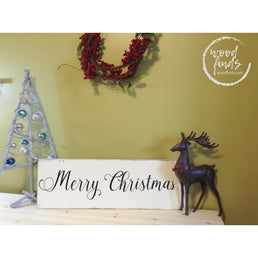 Merry Christmas Sign | Handcrafted Wood Sign Wood Finds