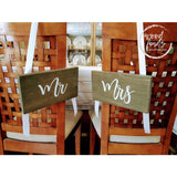 Mr and Mrs Wedding Chair Signs Wood Finds