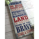 Patriotic Wall Decor 4th of July Wood Sign Wood Finds