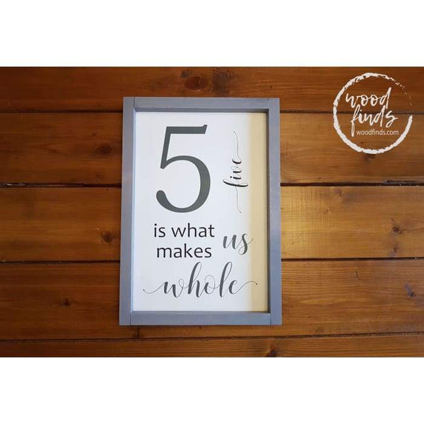 Personalized Family Number Framed Sign Wood Finds