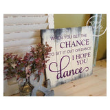 Sit it Out or Dance Sign | Handcrafted Wood Sign Wood Finds