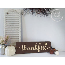 Thankful Holiday Sign | Handcrafted Wood Sign Wood Finds