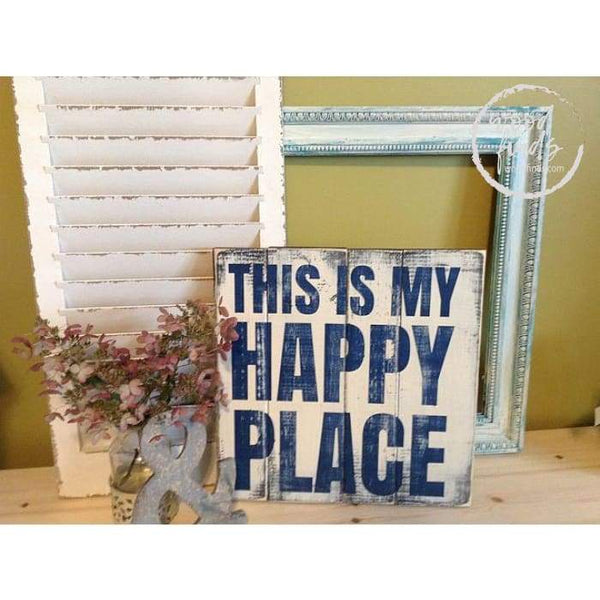 This is my happy place Wood Sign Wood Finds