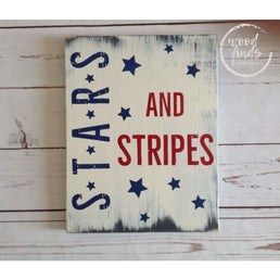 Patriotic Wall Decor, 4th of July Wood Sign, Independence Day Decoration, American Wall Art, Stars and Stripes USA Decor