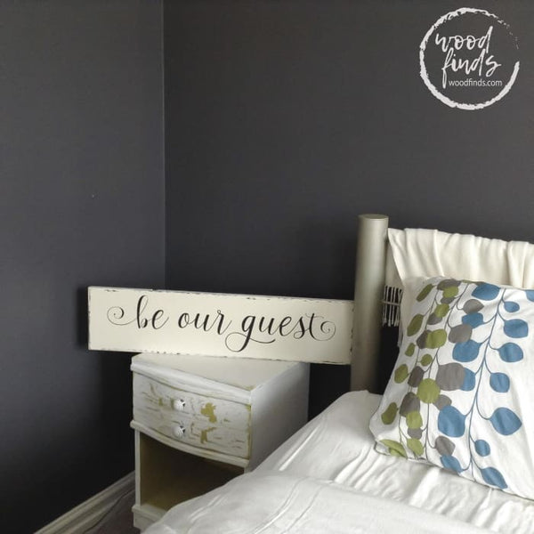 White Guest Room Sign for Guest Room Be Our Guest Sign Wood Finds