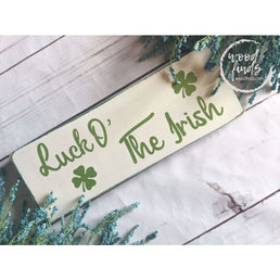 White Rustic Luck O The Irish Wood Sign, St Patricks Day Wall Art, St Patricks Day Decoration, Shamrock Decor, Irish Decoration