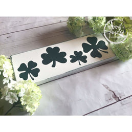White Rustic Shamrock Sign Wood Sign, St Patricks Day Wall Art, St Patricks Day Decoration, Shamrock Decor, Irish Decoration