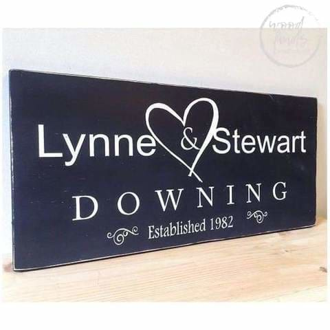 marriage outdoor wood sign