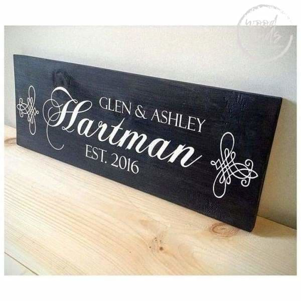 best custom wood entryway family name signs