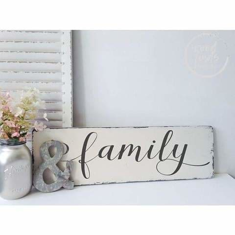 wood family signs