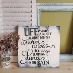 dance in the rain inspirational custom wall sign with quote