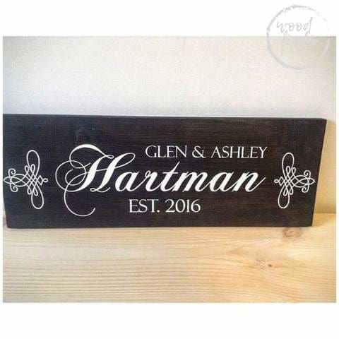 wedding family wood signs