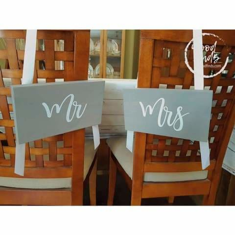 mr and mrs wood hangings for wedding