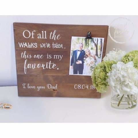 custom wedding signs for father of the bride