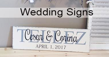 Custom Wood Signs For Personalized Home Decor Weddings