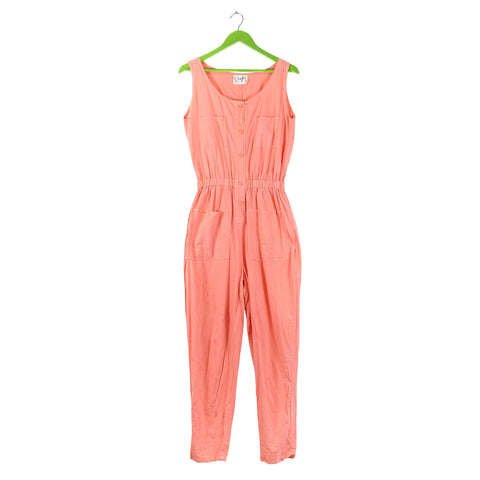 Neon peach jumpsuit