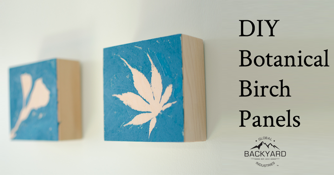 DIY Wall Art: Botanical Birch Wood Panels