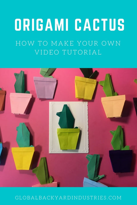 How to Make an Origami Cactus -- a DIY Video Tutorial
