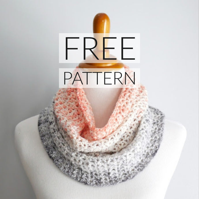 Free Cowl Crochet Pattern From Fiber Flux Using Our Exclusive Colorway