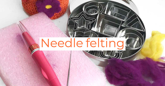 How to Needle Felt Wool Appliques Onto Your Crochet and Knitting Projects