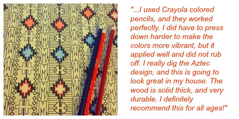 Desert Kilim Color & Hang Wall Art Panel testimonial