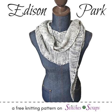 scarf knitting pattern from StitchesnScraps