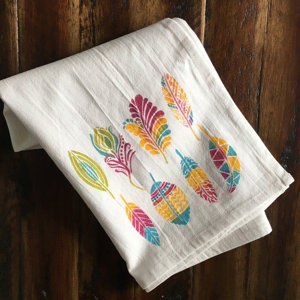 feather DIY tea towel kit photo