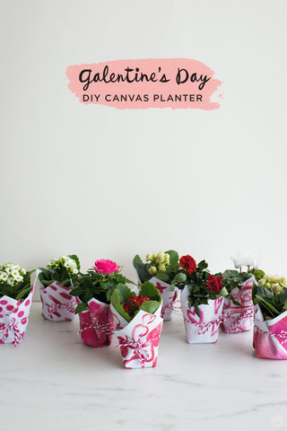 galentines day planter project from Hallmark's Think Make Share