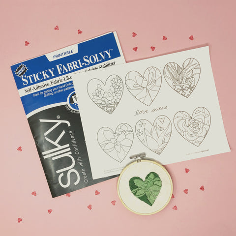 sulky fabri-solvy stick printable for embroidery