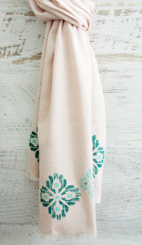 stenciled scarf project