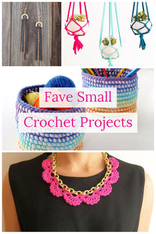 12 small t-shirt yarn crochet projects -- blog round-up