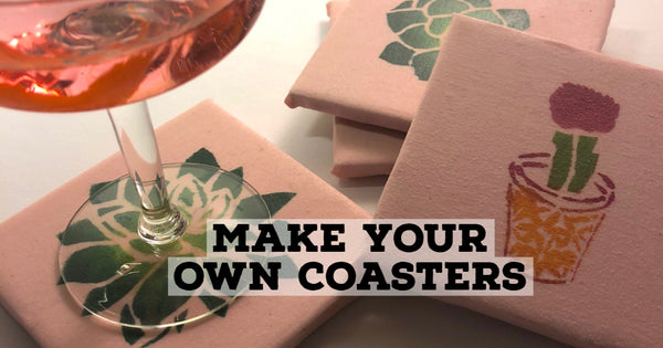 stenciled coaster project