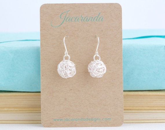 ball of yarn earrings