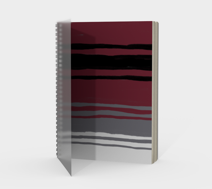 Spiral Notebook in Mexican Blanket Print - plain, graph, or bullet dot grid paper