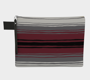 Medium Zipper Pouch -- Wristlet with Mexican Blanket Print