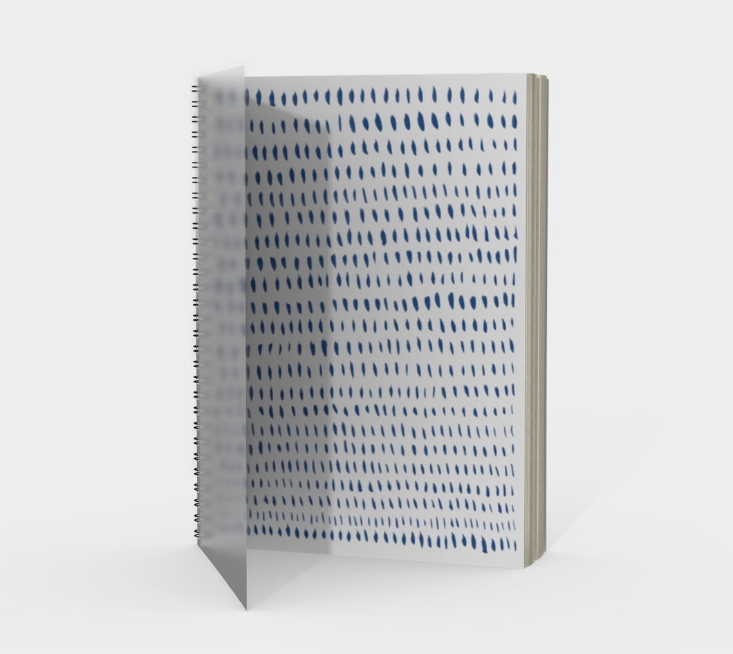 Spiral Notebook with Organic Print - plain, graph, or bullet dot grid paper