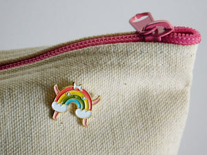 Rainbow Enamel Lapel Pin