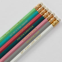 "Load image into Gallery viewer, ""Yarn Love"" pencils for knitting and crocheting fans"