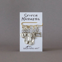 Load image into Gallery viewer, Six Progress Keepers, Zipper Pull Charms with Knitting/Sewing Theme