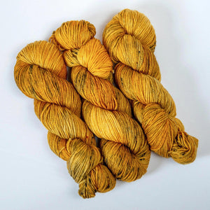 Hand Dyed DK Merino Yarn -- Coconut Yellow Curry