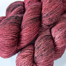 Load image into Gallery viewer, Hand Dyed DK Merino Yarn in Muted Red -- Pinot Noir
