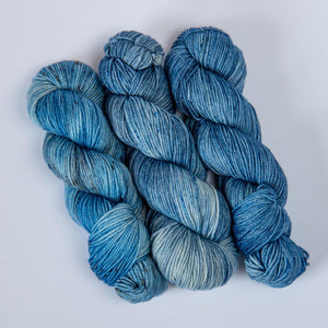 Thai Blue Rice DK Yarn -- Hand Dyed Merino Wool