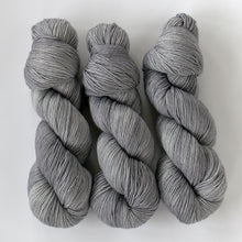 Load image into Gallery viewer, Merino Wool Semi-Solid Sock Yarn -- Hand Dyed Gray