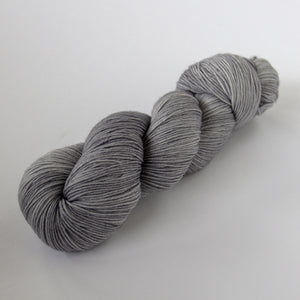 Merino Wool Semi-Solid Sock Yarn -- Hand Dyed Gray