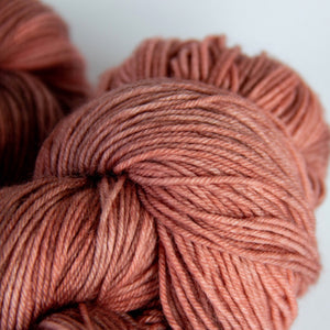 Desert Sunset Sock Yarn in Tones of Orange and Brown -- Hand Dyed Extrafine Merino Wool Blend