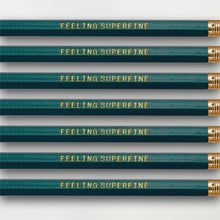 "Load image into Gallery viewer, ""Feeling Superfine"" Pencil Set -- Seven Pencils Celebrating Knitting, Crocheting & Yarn"