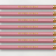 "Load image into Gallery viewer, ""No Skein No Gain"" Pencil Set -- Seven Pencils Celebrating Knitting, Crocheting & Yarn"