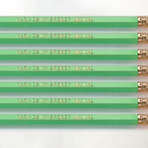 Yarn is my spirit animal pencils for knitters and crocheters