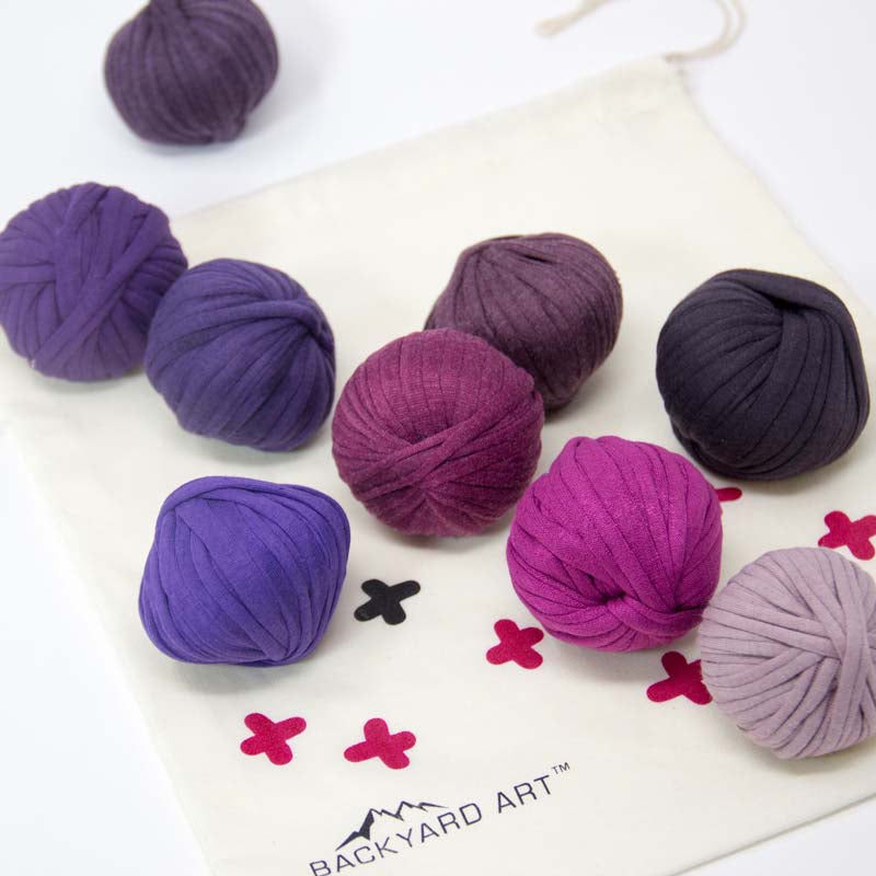 T-Shirt Yarn Crochet Kit in Purple