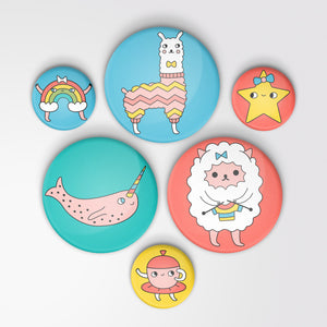 6-Pack of Pin-back Buttons